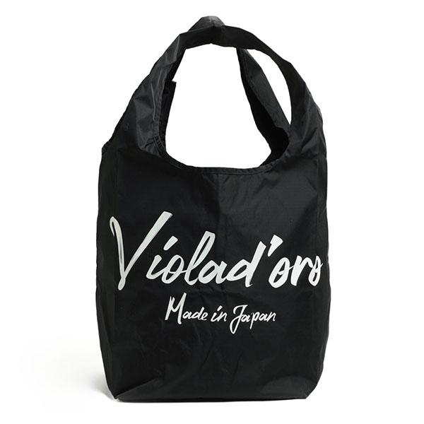 ヴィオラドーロ VIOLAd'ORO エコバッグ トート ハンド バッグ ナイロン ロゴ V-2120
