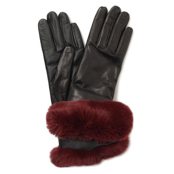 SOFIAGANTS ソフィアガンツ レディース レザー レッキスファー グローブ 手袋 SG601