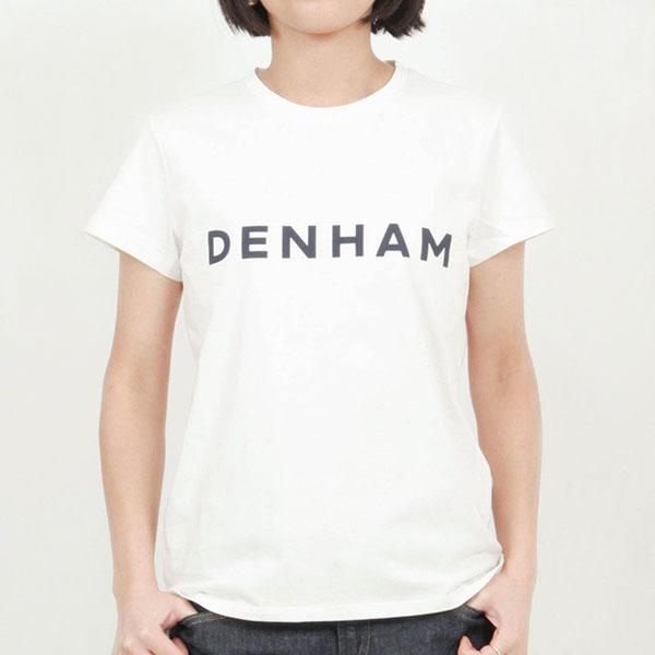 DENHAM デンハム レディース カットソー Tシャツ 半袖 ビッグロゴ コットン ARROW
