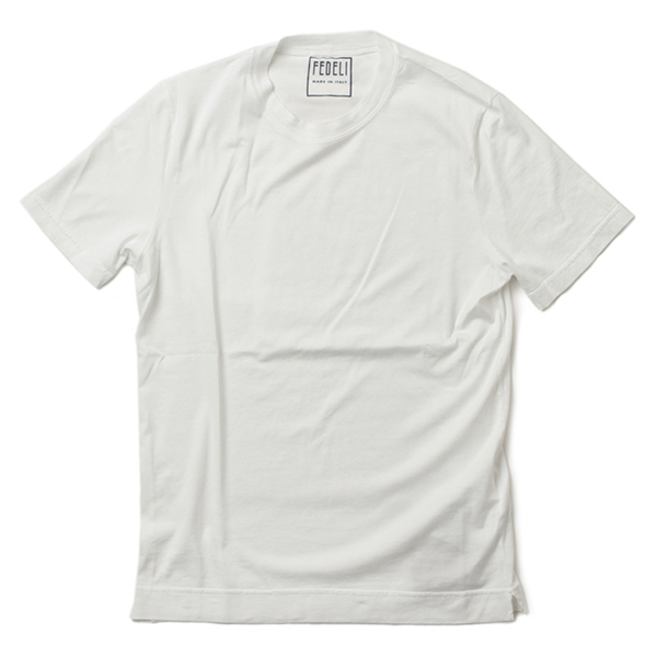 FEDELI フェデーリ クルーネック Tシャツ 半袖 2UEF0103J