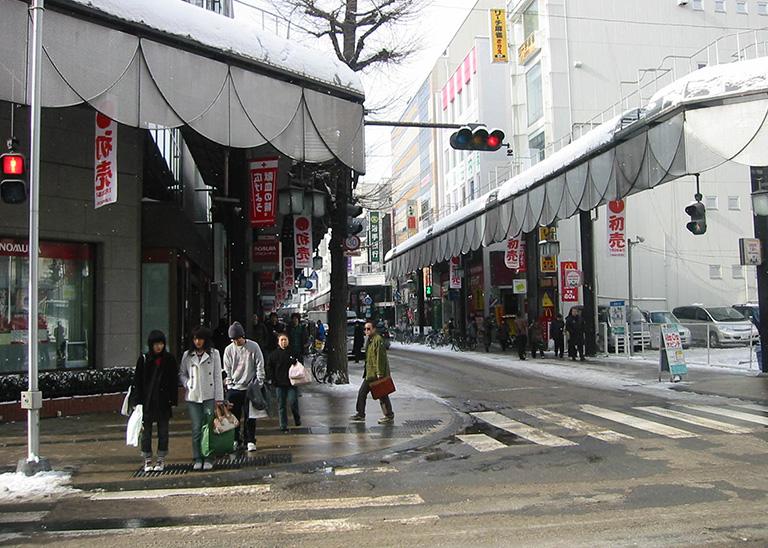 2005年の盛岡市大通の写真